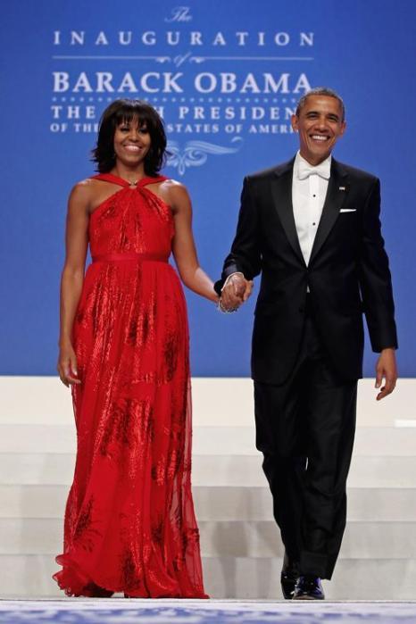 Президент США Барак Обама и первая леди Мишель Обама на инаугурационном балу в Вашингтоне, 22 января 2013 года. Фото: Chip Somodevilla / Getty Images