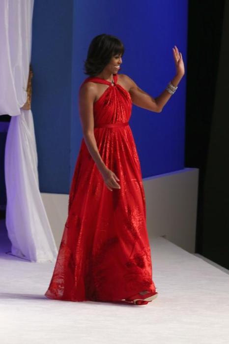 Первая леди Мишель Обама на инаугурационном балу в Вашингтоне, 22 января 2013 года. Фото: Chip Somodevilla / Getty Images