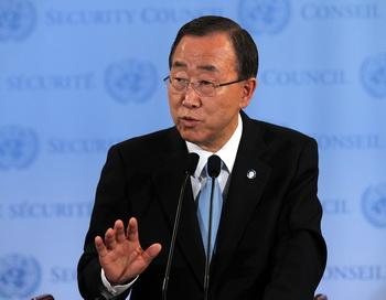Пан Ги Мун, генеральный секретарь ООН. Фото: Spencer Platt/Getty Images