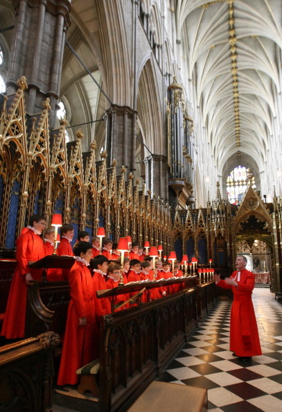 Репетиция хора  Вестминстерского аббатства перед свадьбой принца Уильяма и Кейт Миддлтон. Фото: Dominic Lipinski - WPA Pool/Getty Images