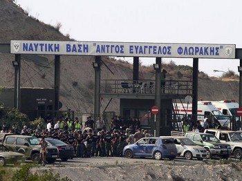 Серия взрывов произошла на военно-морской базе, расположенной на юге Кипра. Фото: focus.de
