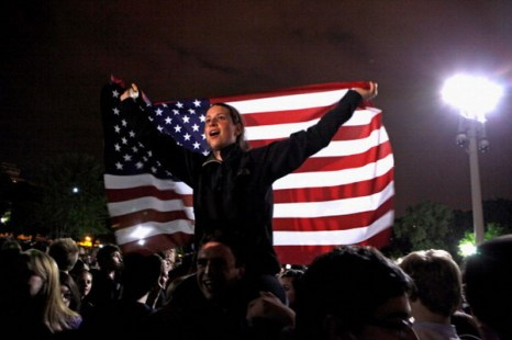 Фоторепортаж. Убит Усама бен Ладен, лидер террористической группировки «Аль-Каиды». Фото: Brendan Smialowski-Pool/Getty Images