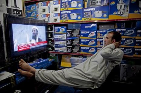 Фоторепортаж. Реакция мира на смерть лидера террористической группировки «Аль-Каида» Усамы бен Ладена. Фото: Mario Tama/Getty Images