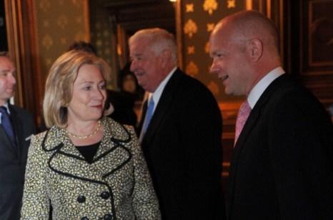 Фоторепортаж с пресс-конференции Госсекретаря США Хиллари Клинтон и министра иностранных дел Великобритании Уильяма Хейга. Фото: Ian Nicholson - WPA Pool/Getty Images