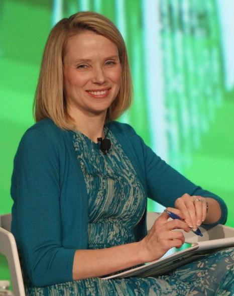 Марисса Майерс удивляет бизнес круги. Фото: TechCrunch/AOL/ Getty Images