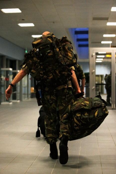 Немецкие и нидерландские военные передовой группы отправляются в Турцию с аэропорта Айндховен в Нидерландах 8 января 2013 г. для подготовки к размещению ракетных установок Пэтриот поблизости от сирийской границы. Фото: Dean Mouhtaropoulos/Getty Images