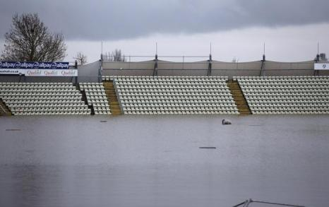 Worecestershire County Cricket Club затоплен в Вустере, Англия.  Фото: Christopher Furlong / Getty Images
