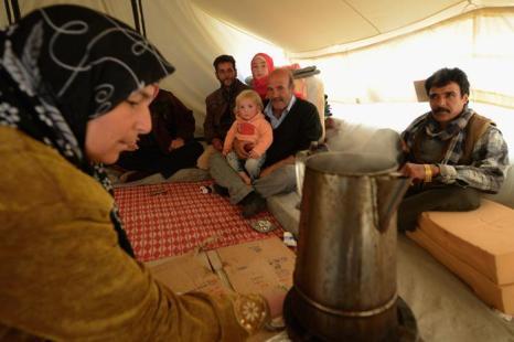 Беженцы в лагере Заатари, Иордания, 29 января 2013 года. Фото: Jeff J Mitchell / Getty Image