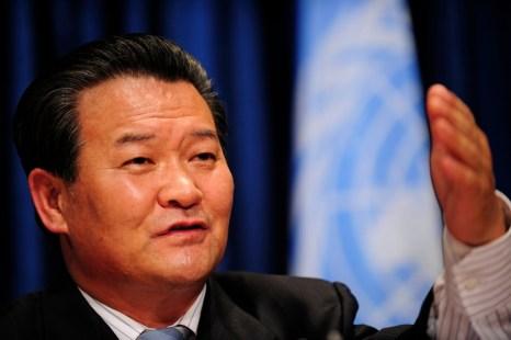 Представитель КНДР в ООН Син Сон Хо. Фото: EMMANUEL DUNAND/AFP/Getty Images