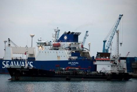 Первое судно с отравляющими веществами вышло из сирийского порта Латакия. Фото: Andrew Caballero-Reynolds/Getty Images