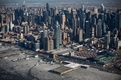 Нью-Йорк. Оттепель пришла в США. Фото: Andrew Burton/Getty Images