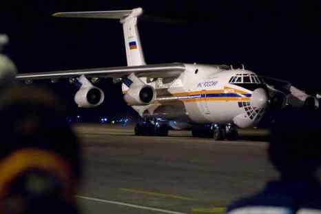 МЧС РФ отправили в Сирию самолёт Ил-76 за российскими гражданами. На борту лайнера вылетели сотрудники МЧС и психологи. Фото: ADALBERTO ROQUE/AFP/Getty Images