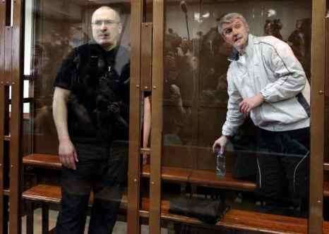 Михаил Ходорковский и Платон Лебедев. Фото: Alexey SAZONOV/AFP/Getty Images