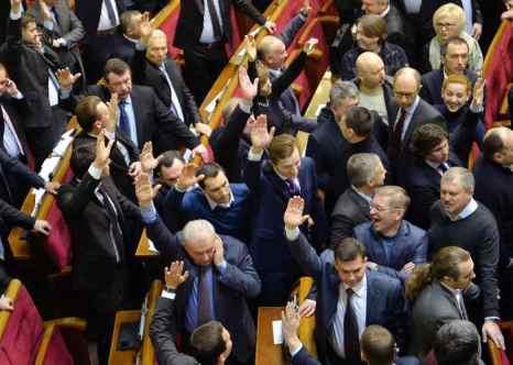 Парламент Украины 16 января 2014 года. Фото: SERGEI SUPINSKY/AFP/Getty Images