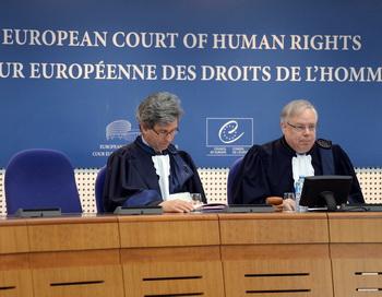 Заседания европейского суда по правам человека. Фото: PATRICK HERTZOG/AFP/Getty Images