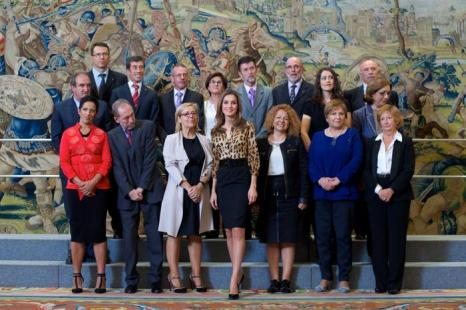 Принцесса Испании Летиция, супруга наследного принца Фелипе, посетила несколько аудиторий во дворце Сарсуэла в Мадриде 21 октября 2013 года. Фото: Carlos Alvarez / Getty Images