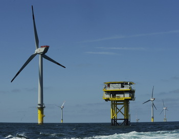 Ветровая электростанция Германии. Фото: DAVID HECKER/AFP/Getty Images