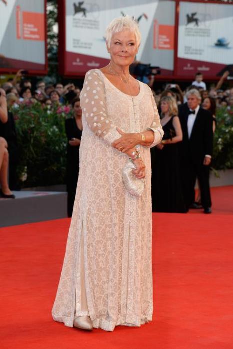 Актриса Джуди Денч  прибыла на премьеру фильма «Филомена» (Philomena) 70-го Венецианского международного кинофестиваля 31 августа 2013 года Венеция, Италия. Фото: Pascal Le Segretain/Getty Images