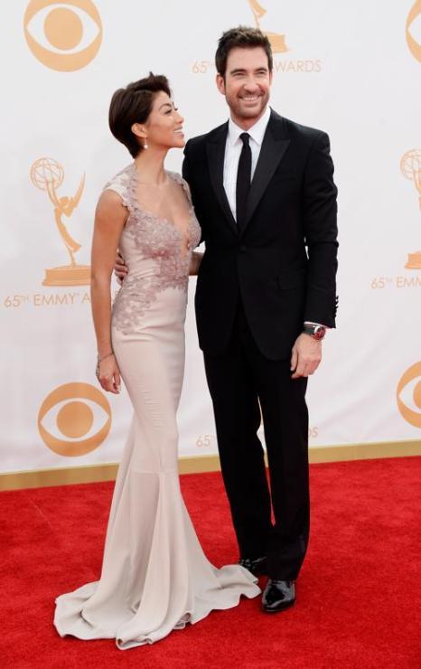 Актёр Дилан МакДермотт и Shasi  Wells прибыли на 65-ю ежегодную церемонию вручения наград «Эмми», которая состоялась в голливудском театре «Нокиа» 22 сентября 2013 года в Лос-Анджелесе, Калифорния (США). Фото: Frazer Harrison/Getty Images