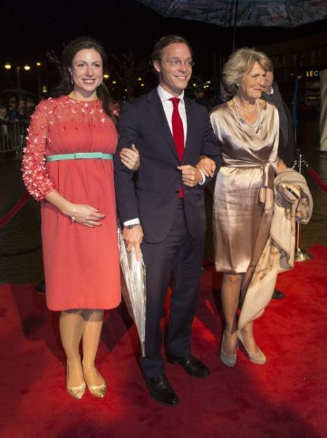 Принцесса Виктория де Бурбон де Парме, принц Хайме де Бурбон де Парме и принцесса Нидерландов Ирэн посетили 30 ноября в Гааге торжества по случаю празднования 200-летия Королевства Нидерландов. Фото: Michel Porro/Getty Images