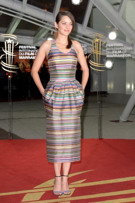 Актриса Марион Котияр прибыла на 13-й международный кинофестиваль 1 декабря в Марракеше (Марокко). Фото: Dominique Charriau/Getty Images