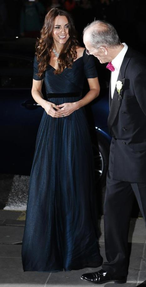 Герцогиня Кембриджская Кетрин посетила приём в портретной галерее Лондона 11 февраля 2014 года. Фото: Olivia Harris-WPA Pool/Getty Images