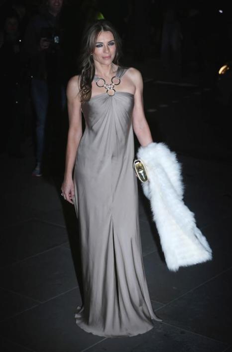 Актриса Элизабет Хёрли на вечере 11 февраля в портретной галерее Лондона. Фото: Chris Jackson/Getty Images