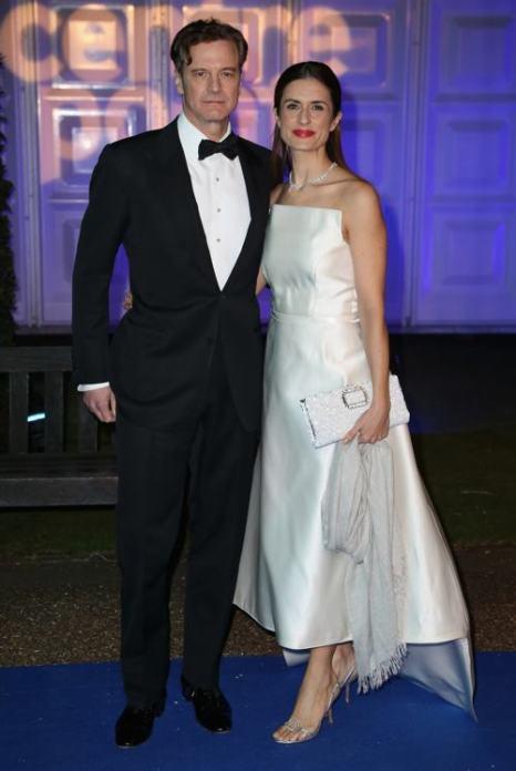 Колин Ферт с женой Ливией Ферт на благотворительном ужине в  Кенсингтонском дворце 26 ноября 2013 года. Фото: Chris Jackson / Getty Images