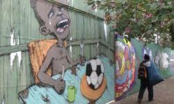 Бразилия, протест, ЧМ, граффити, уличный художник, ФИФА, Маракана, Сан-Паулу