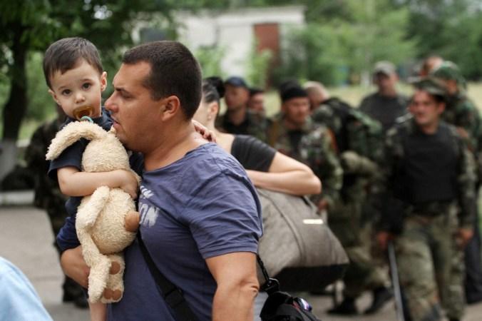 Украина, беженцы, пост