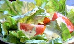 Свежий салат на основе нежного крема, рецепт, салат