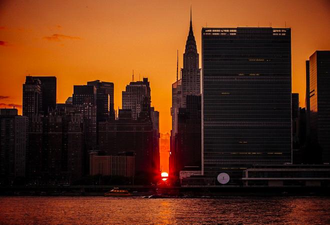 Манхэттенхендж, закат, фото дня, фото, 12 июня
