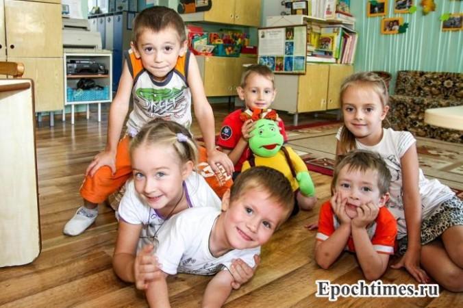 Подмосковье, детский сад, беженцы