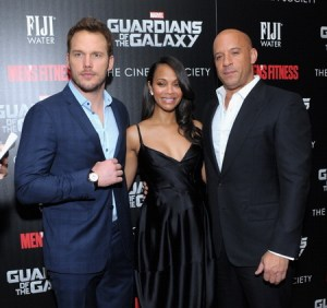 """The Cinema Society With Men's Fitness & FIJI Water Host A Screening Of """"Guardians of the Galaxy"""""""