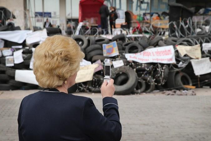 Украина, Майдан, баррикады