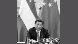 Китайский лидер Си Цзиньпин выступает на пресс-конференции 19 августа в Большом зале народных собраний в Пекине, Китай. Си, видимо, использует наследие Дэн Сяопина, чтобы оправдать свои собственные реформы и политические чистки. Фото: How Hwee Young-Pool/Getty Images
