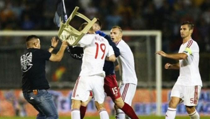 В Белграде во вторник был сорван футбольный матч отборочного тура Евро-2016 между сборными Сербии и Албании