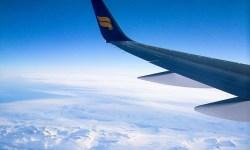 зима, путешествие, самолёт