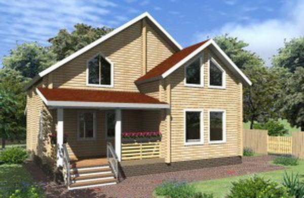 Дешевый дом из бруса. Фото: woodshouse.ru