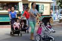 Мамы с детьми в Пекине