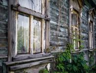 деревянный дом, старый дом