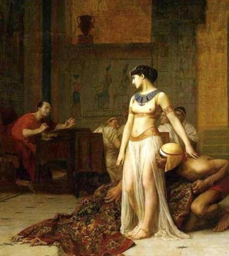 Клеопатра и Цезарь, картина Жана-Леона Жерома, 1866 г.