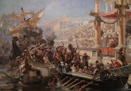 Roman-naumachia
