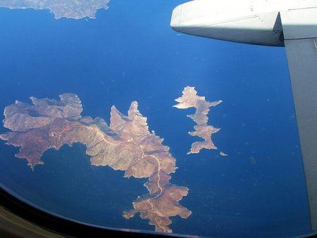 Фурни на снимке из самолёта. Фото: Magnus Manske/wikipedia.org/CC BY 2.0