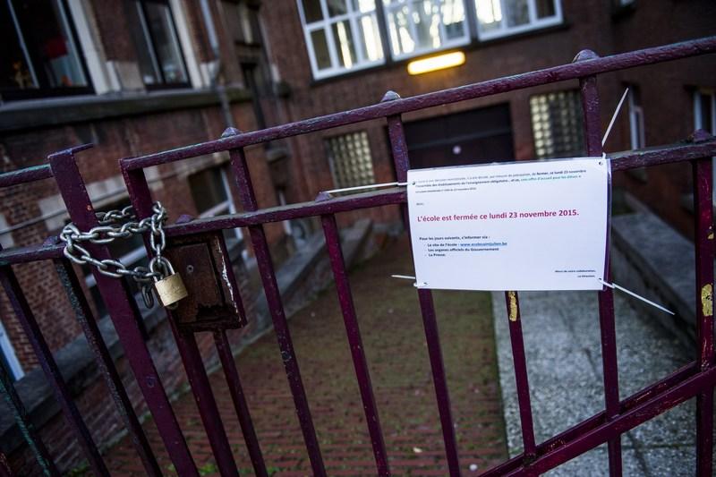 Школа в Брюсселе закрыта из-за высокого уровня террористической угрозы. Фото: LAURIE DIEFFEMBACQ/AFP/Getty Images