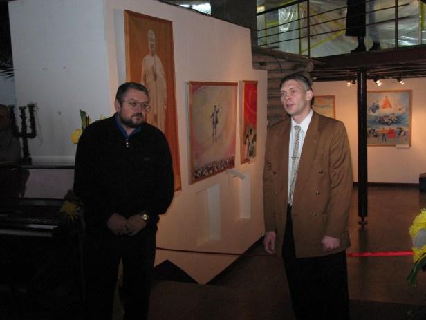 Открытие в Красноярске выставки картин последователей Фалунь Дафа «Истина, Доброта, Терпение». Фото предоставлено автором