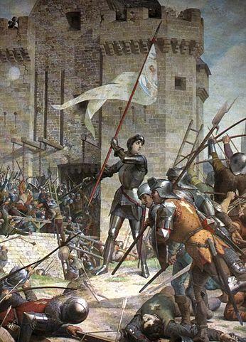 Жанна д'Арк при осаде Орлеана. Ш. Ленепвё. Фото: Moroboshi/wikipedia.org/ public domain