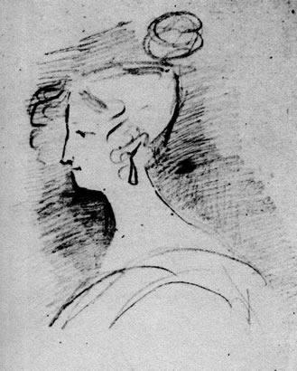 Елизавета Воронцова. Рисунок Пушкина, 1829 год Фото:ru.wikipedia.org/public domain