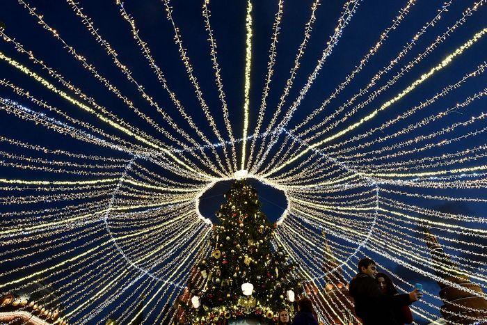 Новогодняя ёлка в Москве. Фото: KIRILL KUDRYAVTSEV/AFP/Getty Images