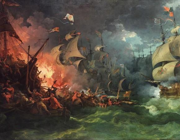 «Поражение испанской армады», 1796 г., Филипп де Лютербург. Фото: Public Domain
